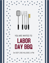 Labor day bbq invite