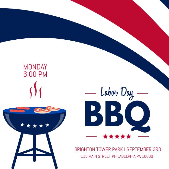Labor Day BBQ Invite Instagram Template