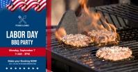 Labor Day BBQ party Image partagée Facebook template