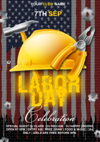 Labor day celebration A4 template