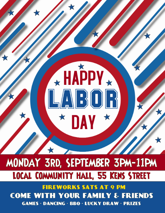 Labor Day Celebration Event Flyer Poster