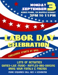 Labor Day Celebration Event Flyer Poster