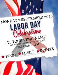 Labor Day Celebration Event Flyer Template