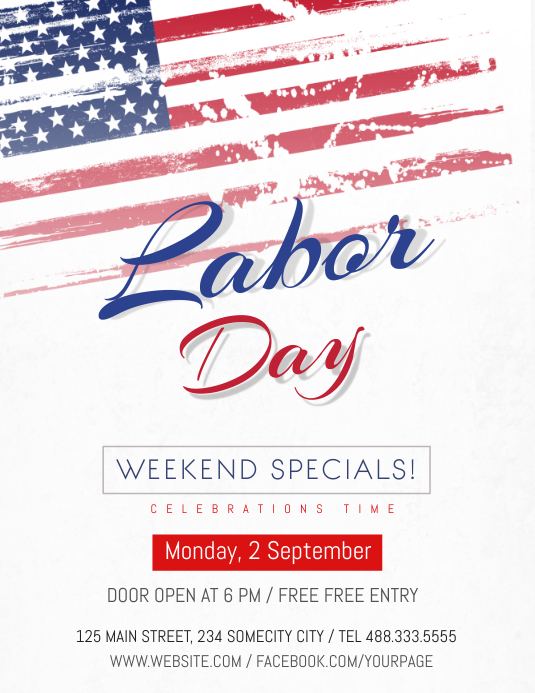 Labor Day Celebration flyer 传单(美国信函) template