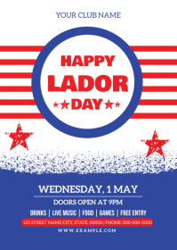 Labor Day Celebration Flyer A6 template