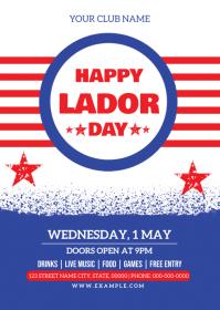 Labor Day Celebration Flyer A6 template