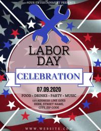 Labor Day Celebration Flyer Template
