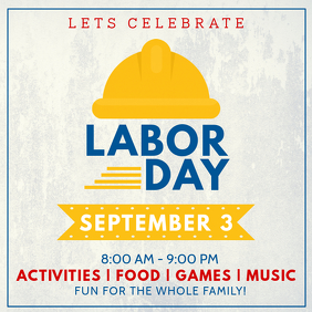 Labor Day Celebration Instagram Post Template