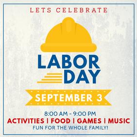 Labor Day Celebration Instagram Post Template