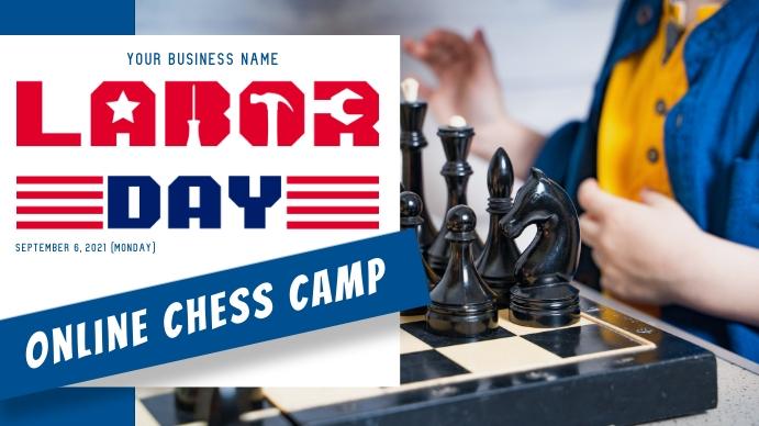 Labor Day Chess Camp Ecrã digital (16:9) template