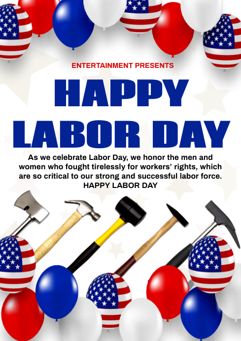 labor day A4 template