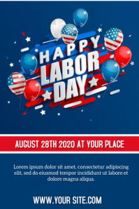 LABOR DAY Póster template