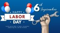 Labor Day Цифровой дисплей (16 : 9) template