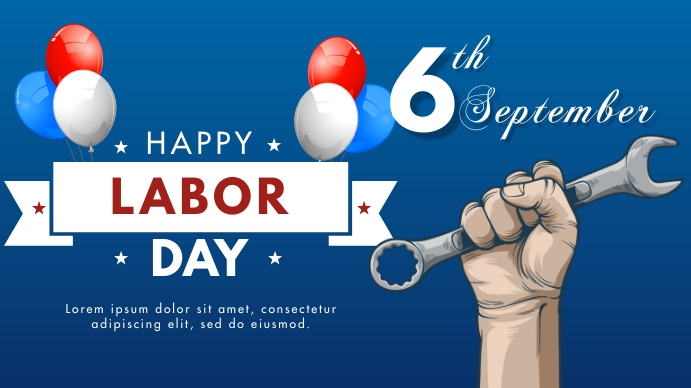 Labor Day Ecrã digital (16:9) template