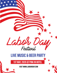 Labor Day Pamflet (Letter AS) template