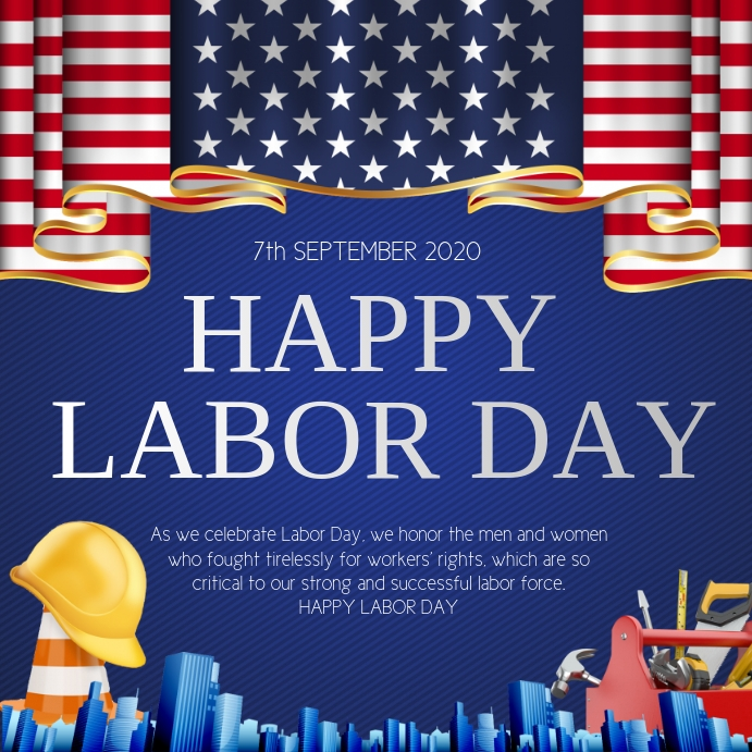 labor day Instagram-bericht template