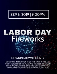 LABOR DAY Flyer (US Letter) template
