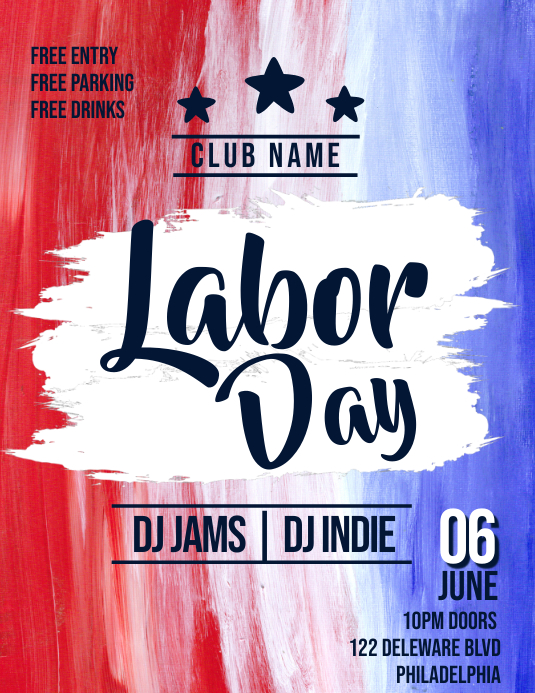 LABOR DAY Folheto (US Letter) template