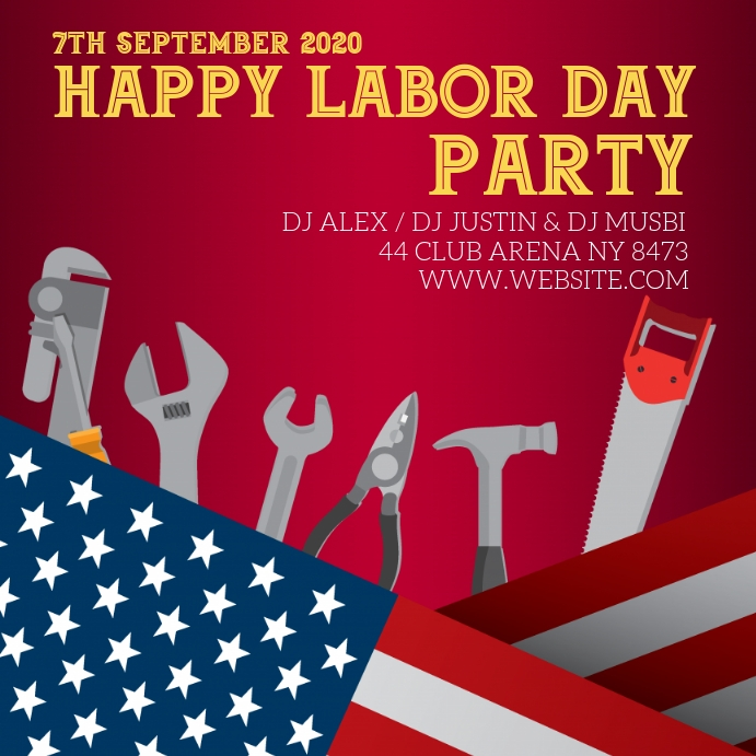 labor day Vierkant (1:1) template
