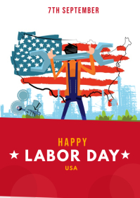 labor day A6 template