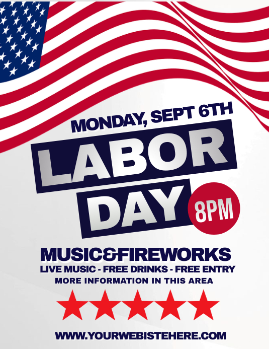 LABOR DAY Flyer (Letter pang-US) template