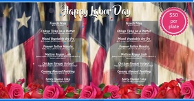 Labor Day Facebook-annonce template