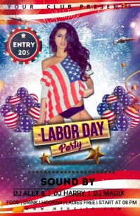 LABOR DAY Half Page Wide template