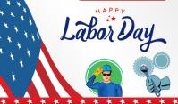 Labor day Merker template