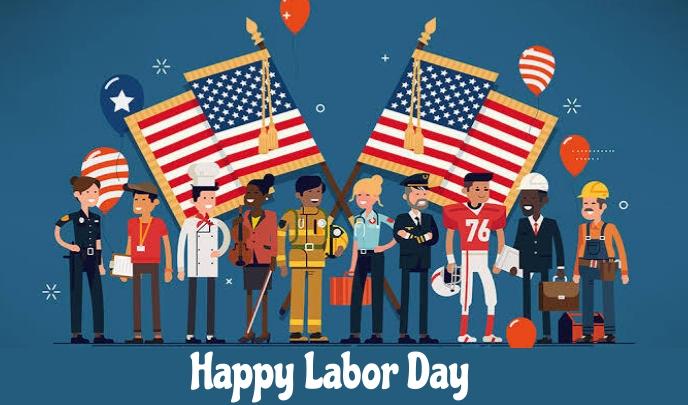Labor day Etiqueta template