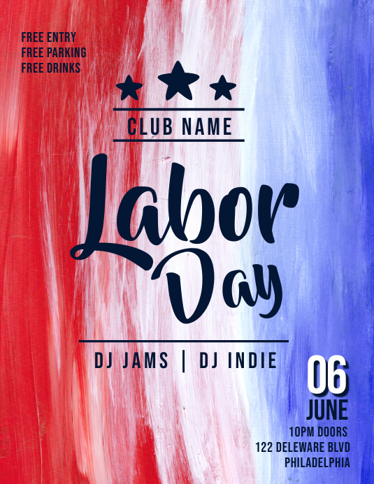 LABOR DAY Flyer (US-Letter) template