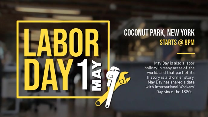 Labor Day Event Facebook Cover Video template