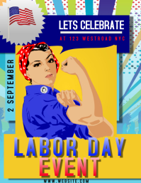 LABOR DAY EVENT FLYER TEMPLATE