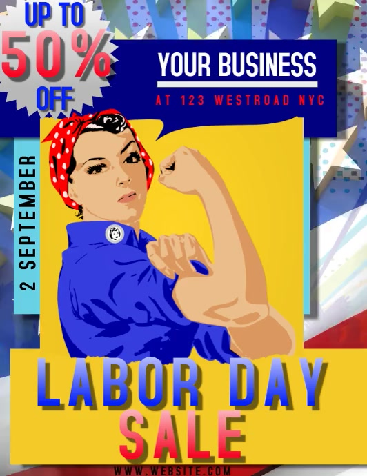 LABOR DAY EVENT FLYER VIDEO DIGITAL TEMPLATE