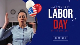 labor day facebook sale banner templat