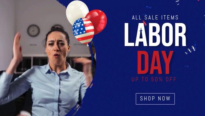 labor day facebook sale banner templat