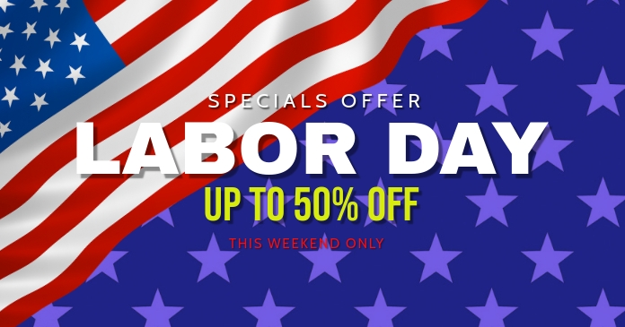 labor day facebook sale banner template