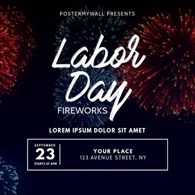 Labor Day Fireworks video design template