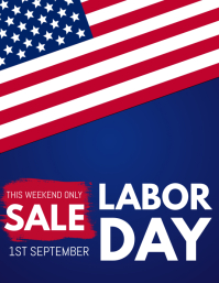 Labor Day Flyer, retail flyer