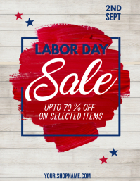 Labor Day Flyer, Worker's Day Pamflet (VSA Brief) template