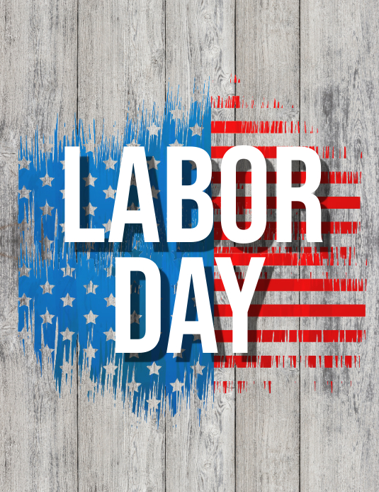 Labor Day Flyer, Worker's Day Ulotka (US Letter) template