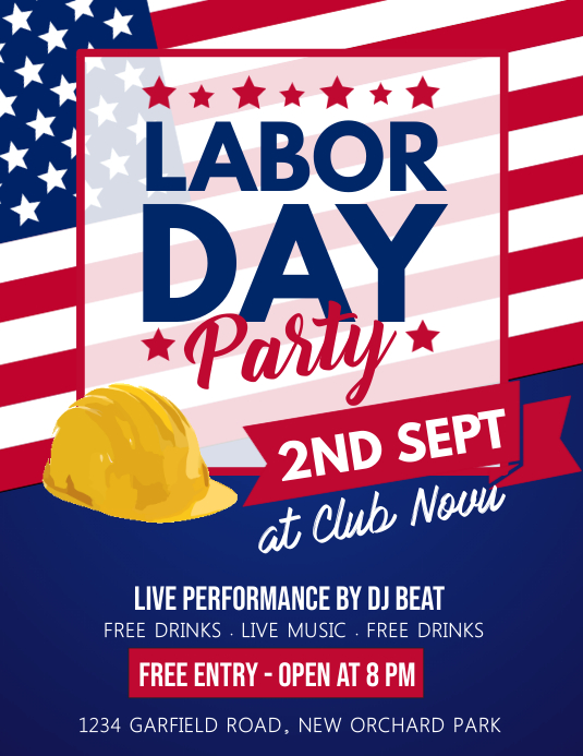 Labor Day Flyer, Worker's Day