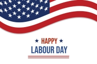LABOR DAY FLYER Banner 4' × 6' template