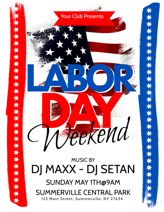 Labor Day Flyer Template | PosterMyWall