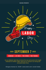 Labor Day Flyer Template Plakat