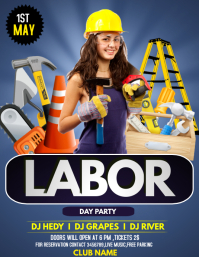 Labor day flyers template
