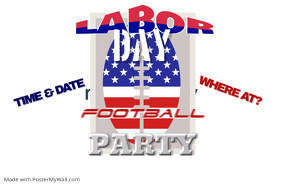 Labor Day Football Sports Event Tailgate Party Pre-Game