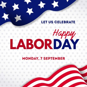 Labor day Instagram post template Instagram-bericht
