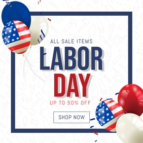 labor day instagram sale banner templat