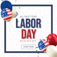 labor day instagram sale banner templat Instagram-Beitrag template