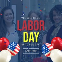 labor day instagram sale video template